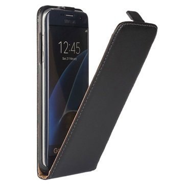 Samsung Galaxy S7 Edge Vertical Leather Case