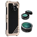 Samsung Galaxy S7 Edge Viking Case with Camera Lens Set - Black / Gold