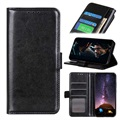 Huawei P40 Lite Wallet Case with Stand Feature - Black