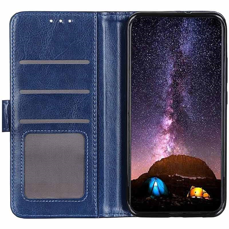 Samsung Galaxy A51 Wallet Case with Magnetic Closure - Blue