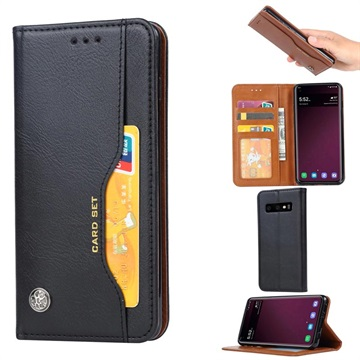 Samsung Galaxy S10 Wallet Case with Stand Feature - Black