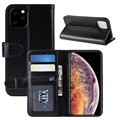 iPhone 11 Pro Max Wallet Case with Magnetic Closure - Black