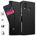 Huawei P20 Lite Wallet Case with Card Holder - Black