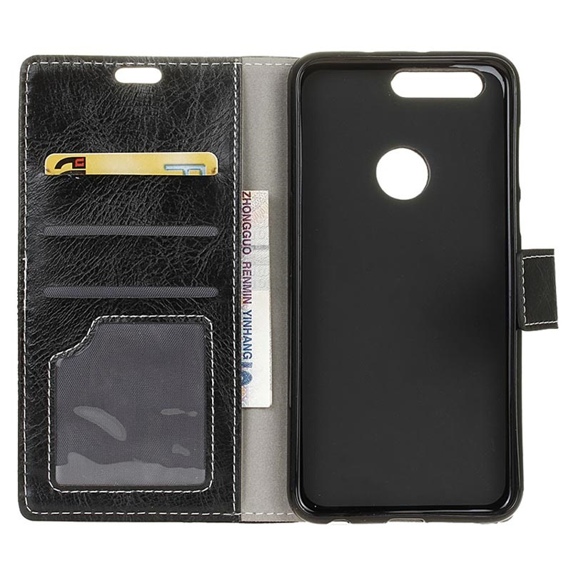 Honor View 20 Wallet Case with Stand Feature - Black
