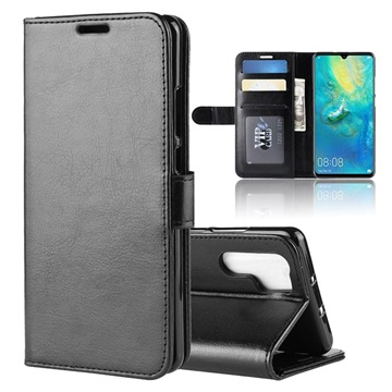 Huawei P30 Pro Wallet Case with Stand Feature - Black