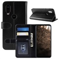 Motorola One Vision Wallet Case with Stand Feature - Black