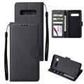 Samsung Galaxy S10+ Wallet Case with Stand Feature - Black