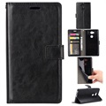 Sony Xperia L2 Wallet Case with Stand Feature - Black
