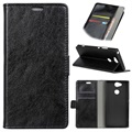 Sony Xperia XA2 Classic Wallet Case with Kickstand - Black