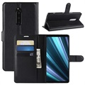 Sony Xperia 1 Wallet Case with Stand Feature - Black