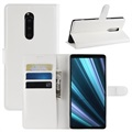 Sony Xperia 1 Wallet Case with Stand Feature - White