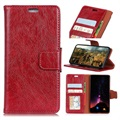 Sony Xperia 10 Wallet Case with Stand Feature - Red