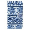 Samsung Galaxy S3 I9300 Wallet Leather Case - Tribal Elephant
