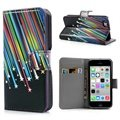 iPhone 5C Wallet Leather Case - Meteor
