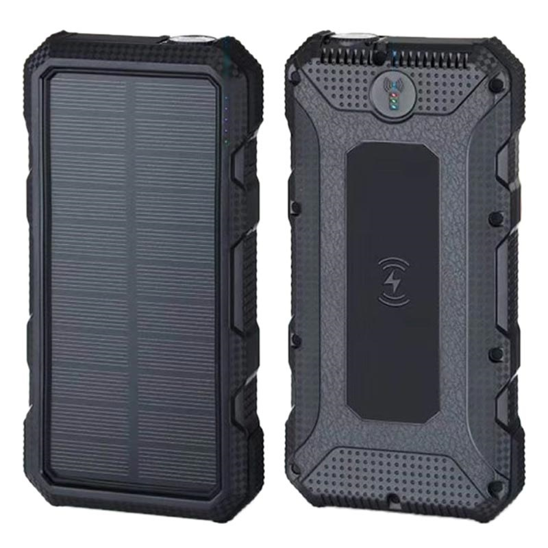 Water Resistant Solar Power Bank/Wireless Charger - 20000mAh