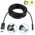 Android, PC Waterproof 8mm USB Endoscope Camera AN99 - 10m - Black