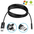 Android, PC Waterproof 8mm USB Endoscope Camera AN99 - 2m - Black