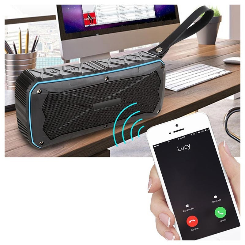 Waterproof Bluetooth Speaker with USB Charging Port - 16W