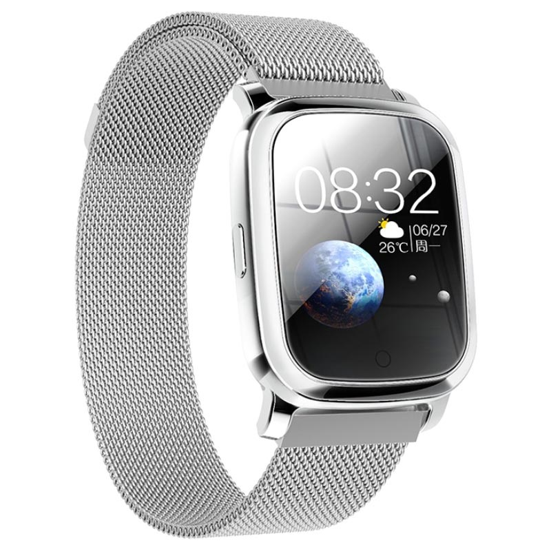 Waterproof Bluetooth Sports Smartwatch CV06 - Milanese - Silver