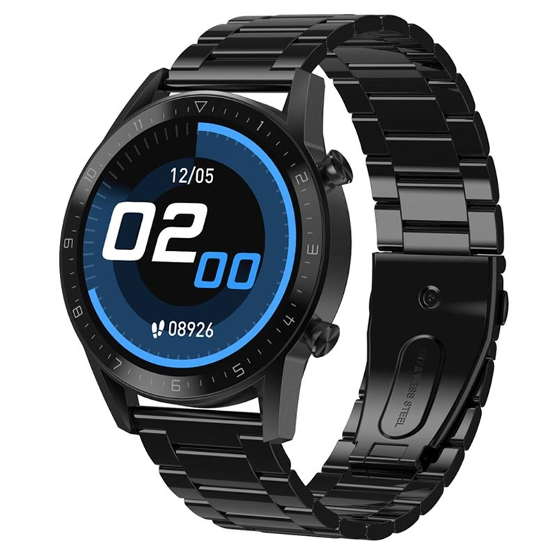 Stainless Steel Smart Watch with 24h HR & Blood Pressure DT92