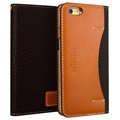 iPhone 6/6S Wetherby Premium Basic Wallet Leather Case - Dark Brown