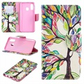 Wonder Series Samsung Galaxy A40 Wallet Case - Colorful Tree