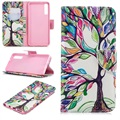 Wonder Series Samsung Galaxy A7 (2018) Wallet Case - Colorful Tree