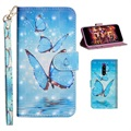Wonder Series Sony Xperia 1 Wallet Case - Blue Butterfly