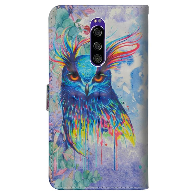 Wonder Series Sony Xperia 1 Wallet Case - Owl