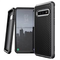 X-Doria Defense Lux Samsung Galaxy S10 Hybrid Case - Carbon Fiber - Black