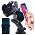 Yogee 2-in-1 Qi Wireless Charger and Car Holder - 15W - Black