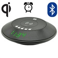 Yogee JY-32C Qi Wireless Charger & Bluetooth Speaker with Alarm Clock - Black