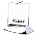 Z-shaped Newton's Cradle - Educational Desk Toy - Silver