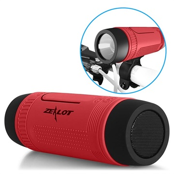Zealot S1 6-in-1 Multifunctional Bluetooth Speaker - Red