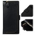 Zipped Series Samsung Galaxy S10 Wallet Leather Case - Black