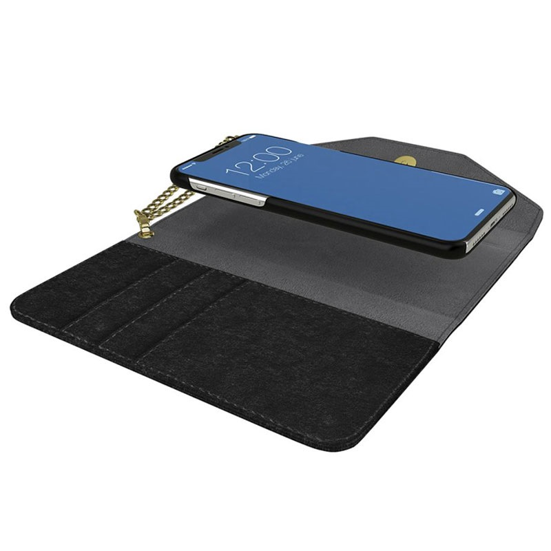 50a04203d5 iDeal of Sweden Mayfair Velvet iPhone XR Clutch Wallet Case