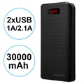 iMyMax Carbon MM-PB/006 2xUSB Power Bank - 30000mAh - Black