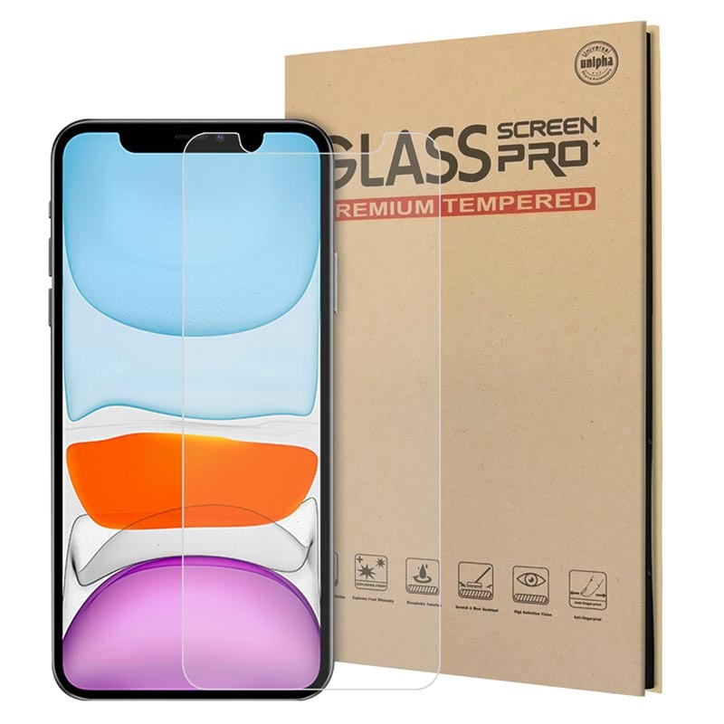 iPhone 12/12 Pro Tempered Glass Screen Protector - 9H, 0.2mm - Clear