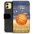 iPhone 11 Premium Wallet Case - Basketball