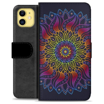 iPhone 11 Premium Wallet Case - Colorful Mandala