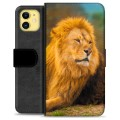 iPhone 11 Premium Wallet Case - Lion