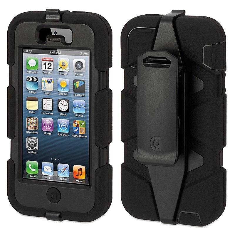 iphone 5 5s se griffin survivor case black. Black Bedroom Furniture Sets. Home Design Ideas