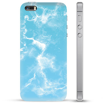 iPhone 5/5S/SE TPU Case - Blue Marble