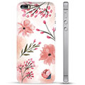 iPhone 5/5S/SE Hybrid Case - Pink Flowers