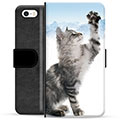 iPhone 5/5S/SE Premium Wallet Case - Cat