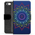 iPhone 5/5S/SE Premium Wallet Case - Colorful Mandala