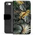 iPhone 5/5S/SE Premium Wallet Case - Golden Leaves
