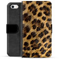 iPhone 5/5S/SE Premium Wallet Case - Leopard