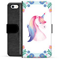 iPhone 5/5S/SE Premium Wallet Case - Unicorn