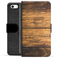 iPhone 5/5S/SE Premium Wallet Case - Wood